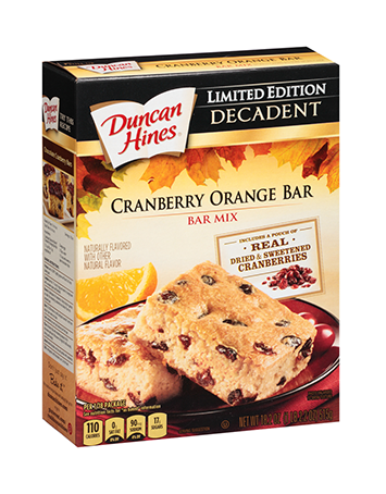 Decadent Cranberry Orange Bar Mix