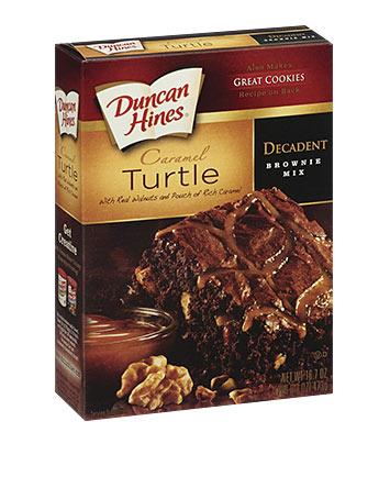 Caramel Turtle Decadent Brownie Mix