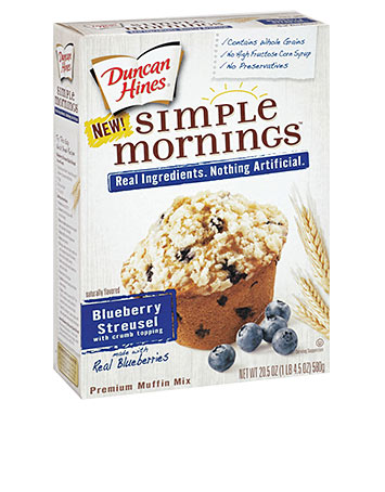 Simple Mornings Blueberry Streusel Muffin Mix