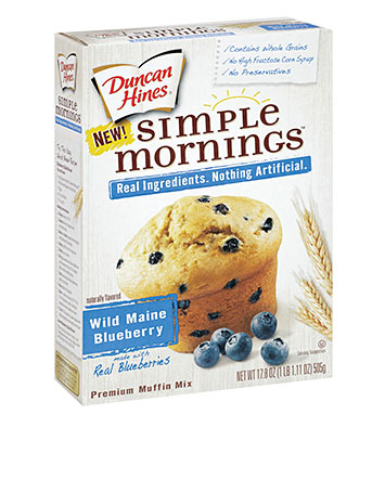 Simple Mornings Wild Maine Blueberry Muffin Mix