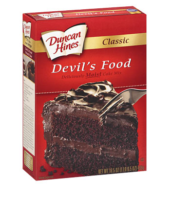 devil s food cake mix classic s food cake mix duncan hines 174 3510