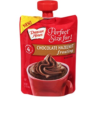 Perfect Size for 1® Chocolate Hazelnut Frosting