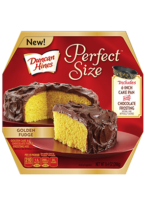 Duncan Hines® Perfect Size Golden Fudge Cake