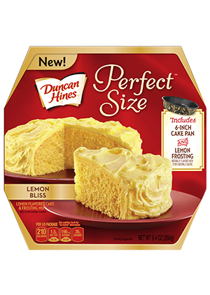 Duncan Hines® Perfect Size Lemon Bliss Cake