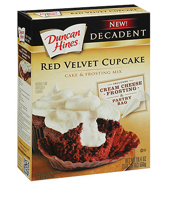 red velvet cupcakes from cake mix