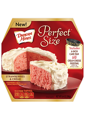 Duncan Hines® Perfect Size Strawberries and Crème Cake