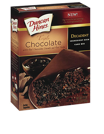 Decadent Triple Chocolate Cake Mix
