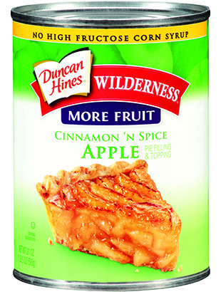 Duncan Hines Wilderness® More Fruit Cinnamon 'N Spice Apple Pie Filling & Topping