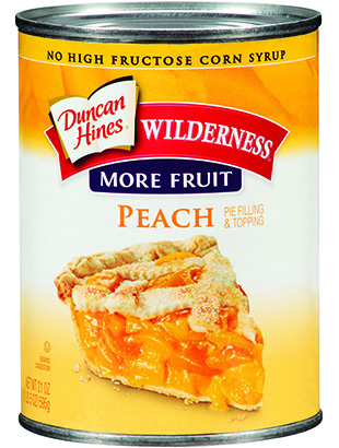 Duncan Hines Wilderness® More Fruit Peach Pie Filling & Topping