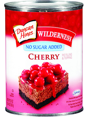 Duncan Hines Wilderness® No Sugar Added Cherry Pie Filling & Topping