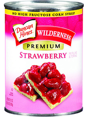 Duncan Hines Wilderness® Premium Strawberry Pie Filling & Topping