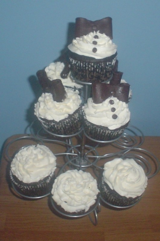 Black and White Tux Cupcakes