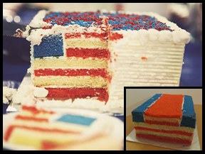 the Hidden American Flag Cake
