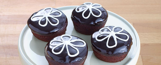 Decadent Glazed Cupcakes