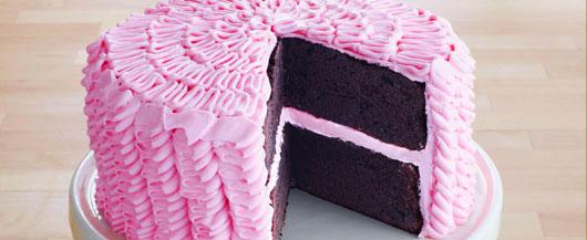 Pink Ruffle Cake