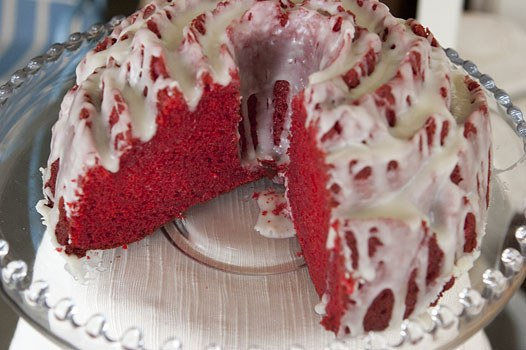 Red Velvet Rose Bundt Cake