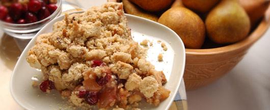Pilgrim's Cranberry-Peach Cobbler