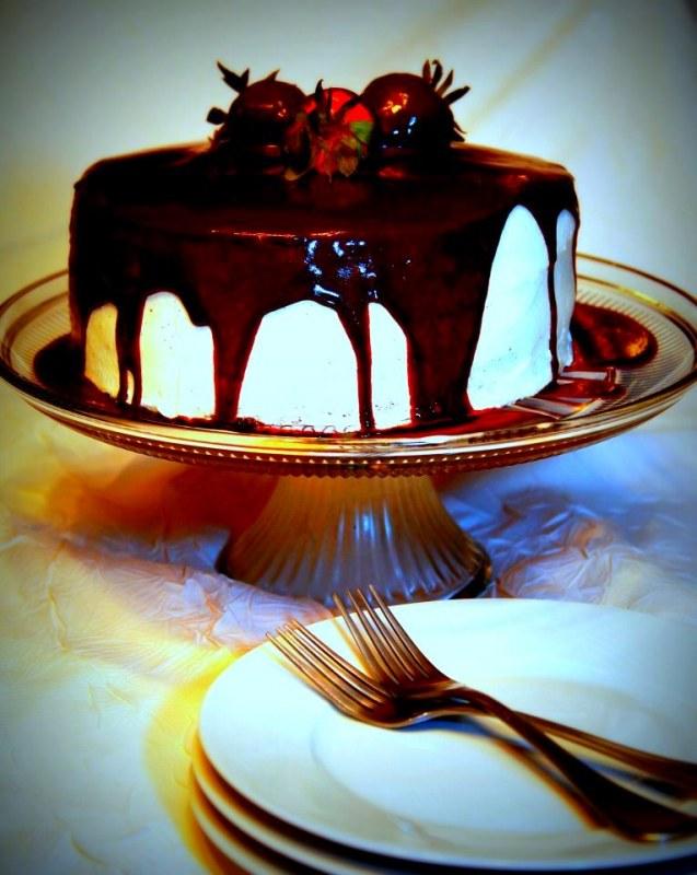 Chocolate Mint Tuxedo Cake