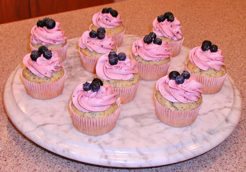 Blueberry Breakfast Cupcakes