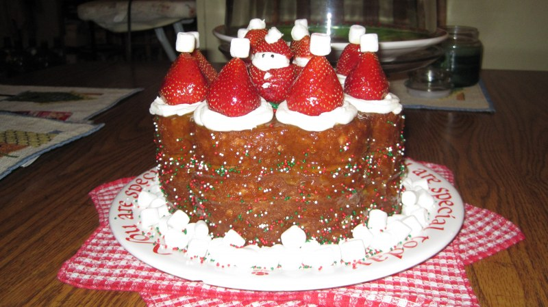 Santa Hat Cake