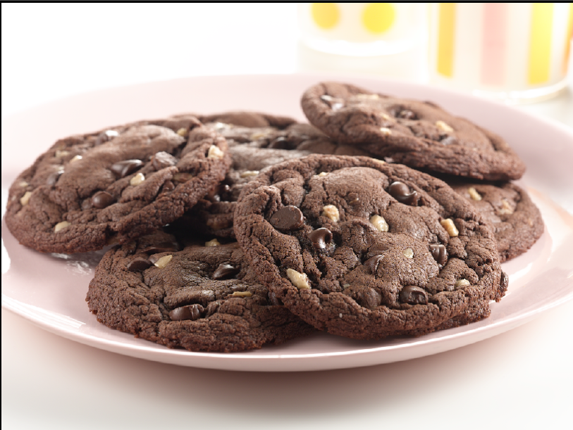 Chocolate Chocolate Chip Toffee Cookies