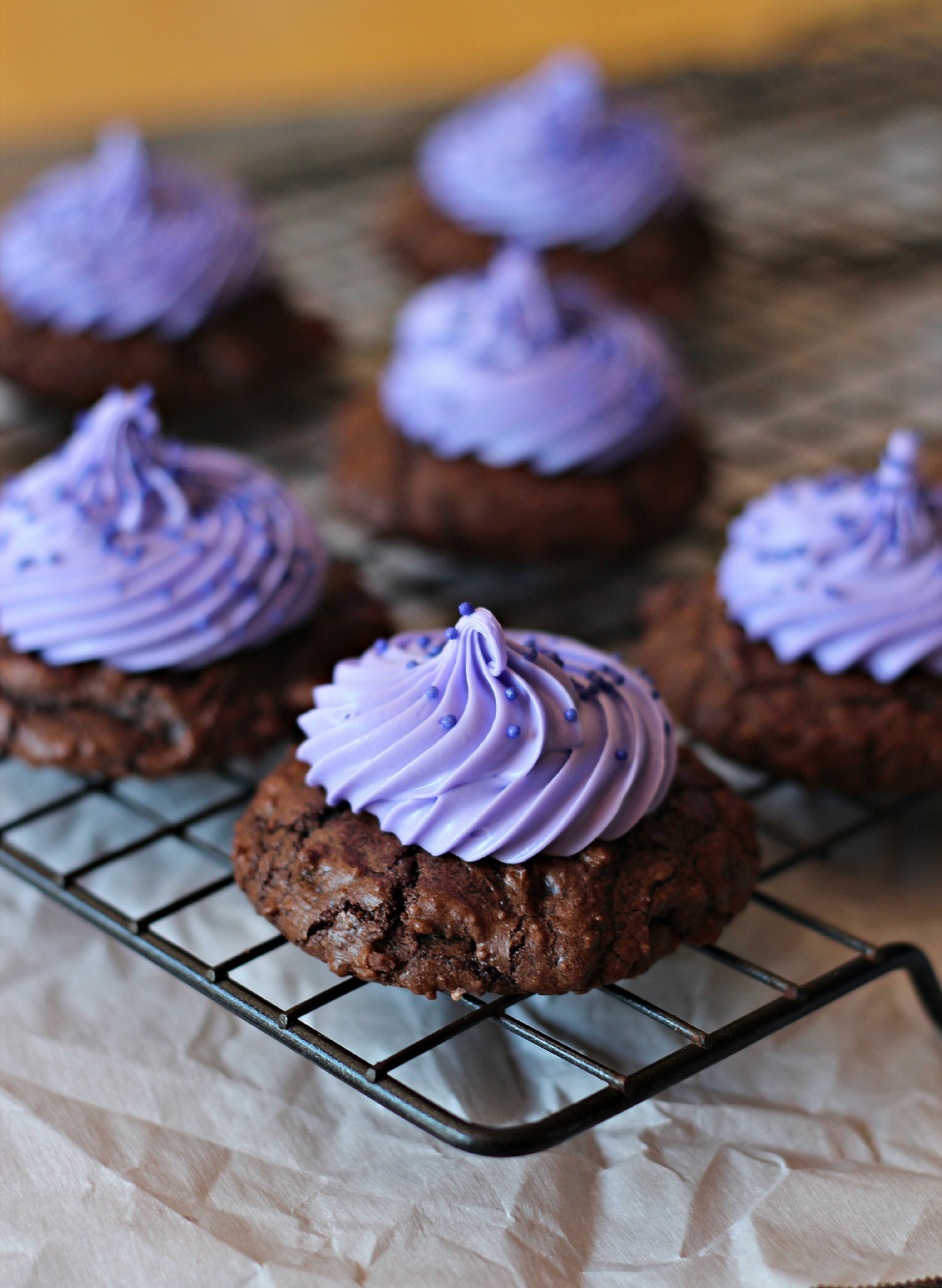 Cream Cheese Brownie Cookies with Cream Cheese Frosting