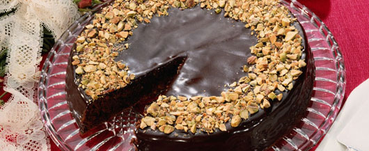 Chocolate Peanut Butter Frosted Cake