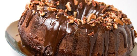 Pecan Dipped Chocolate Cake