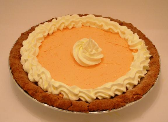Pumpkin Creme Pie with Spice Cake Crust