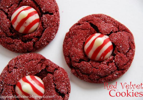 Red Velvet Thumbprint Cookies From Cake Mix