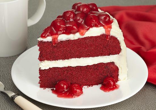 Cheerful Cherry Red Velvet Cake