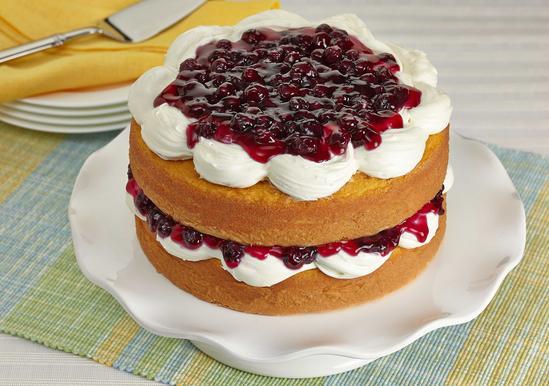 Luscious Lemon Blueberry Cake
