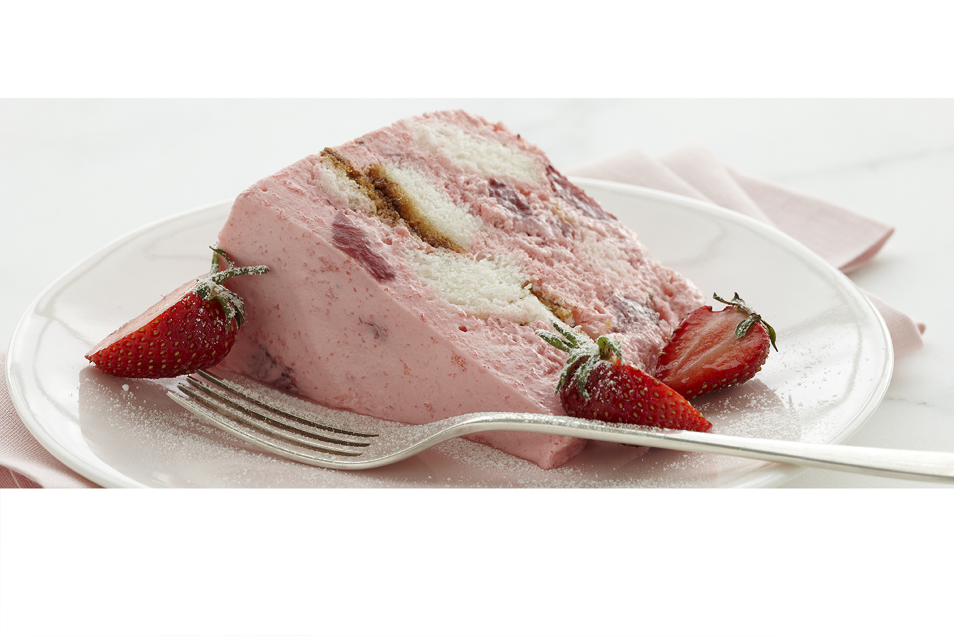 Angel Strawberry Bavarian Cake