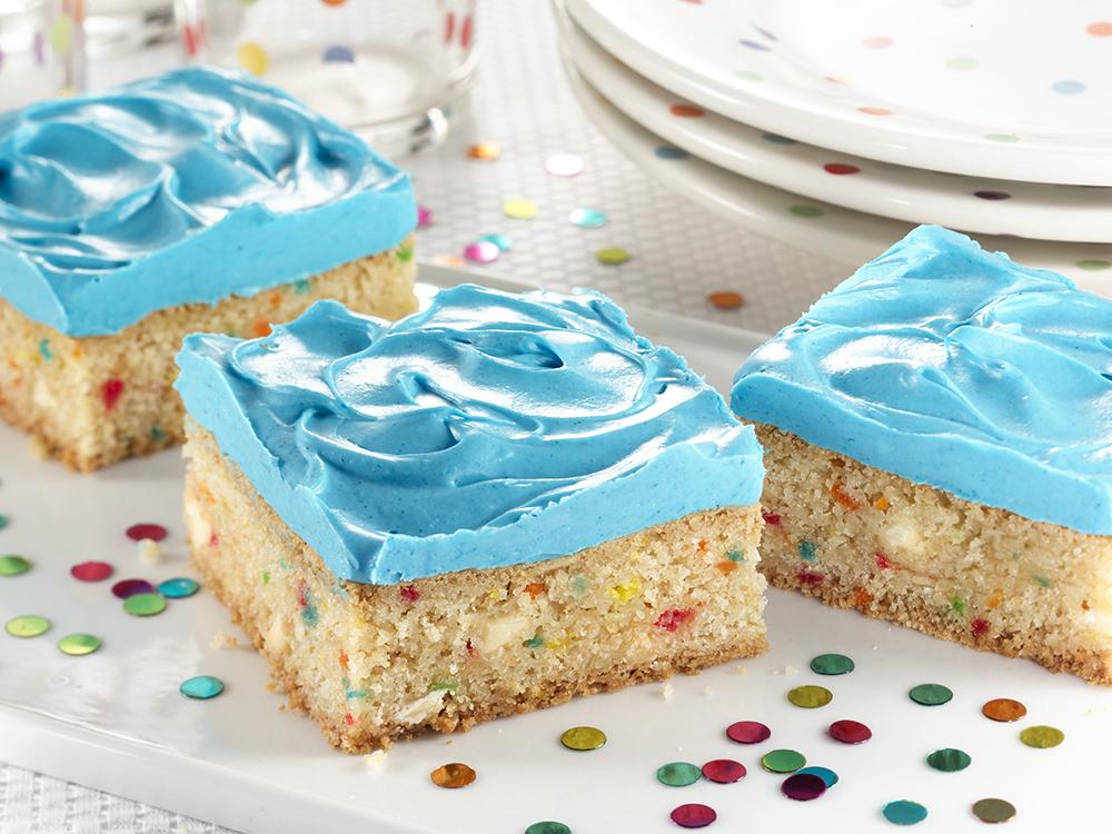 Blue Confetti White Chocolate Squares