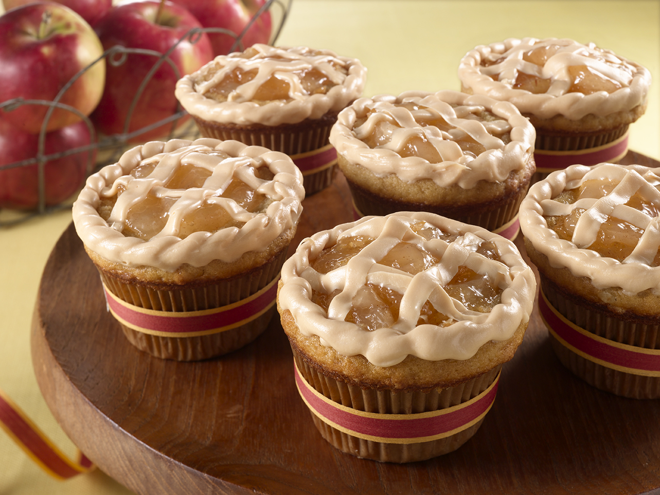 Caramel Apple Pie Cakes