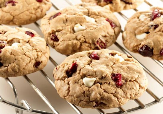 Cranberry White Chocolate Spice Cookies
