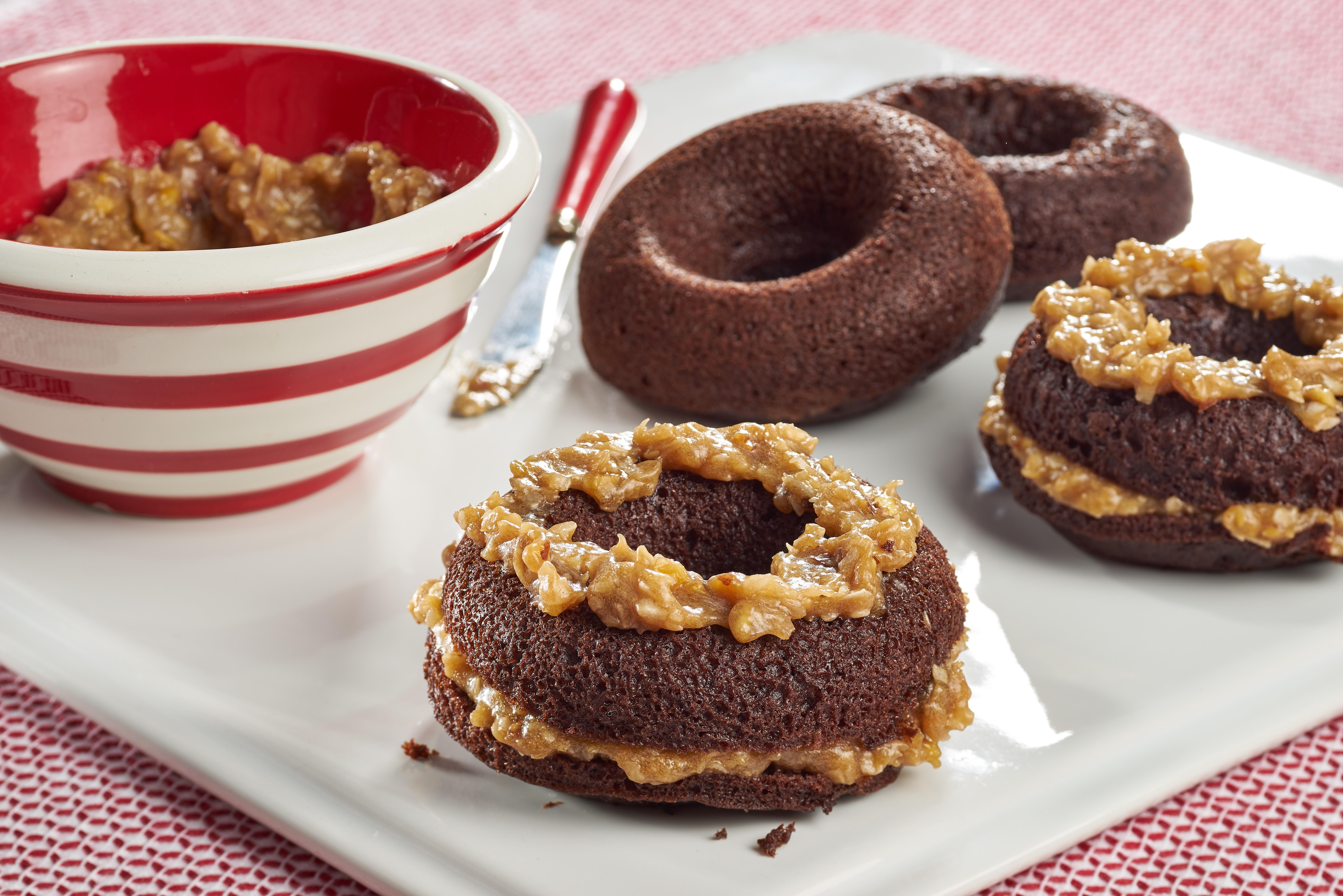 German Chocolate Donut Sandwiches