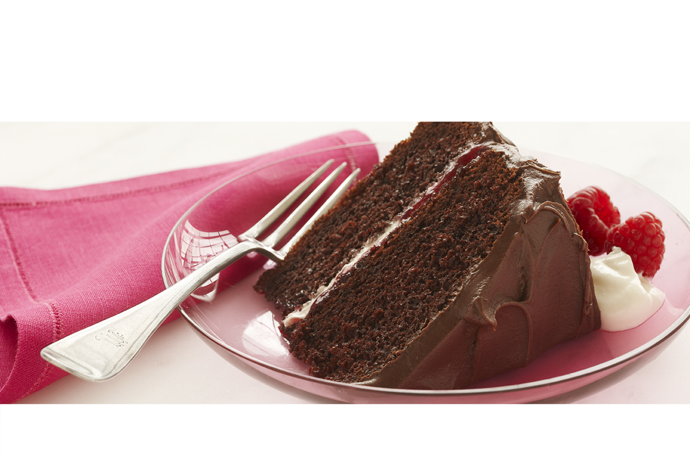 Divine Chocolate Raspberry Sour Cream Cake