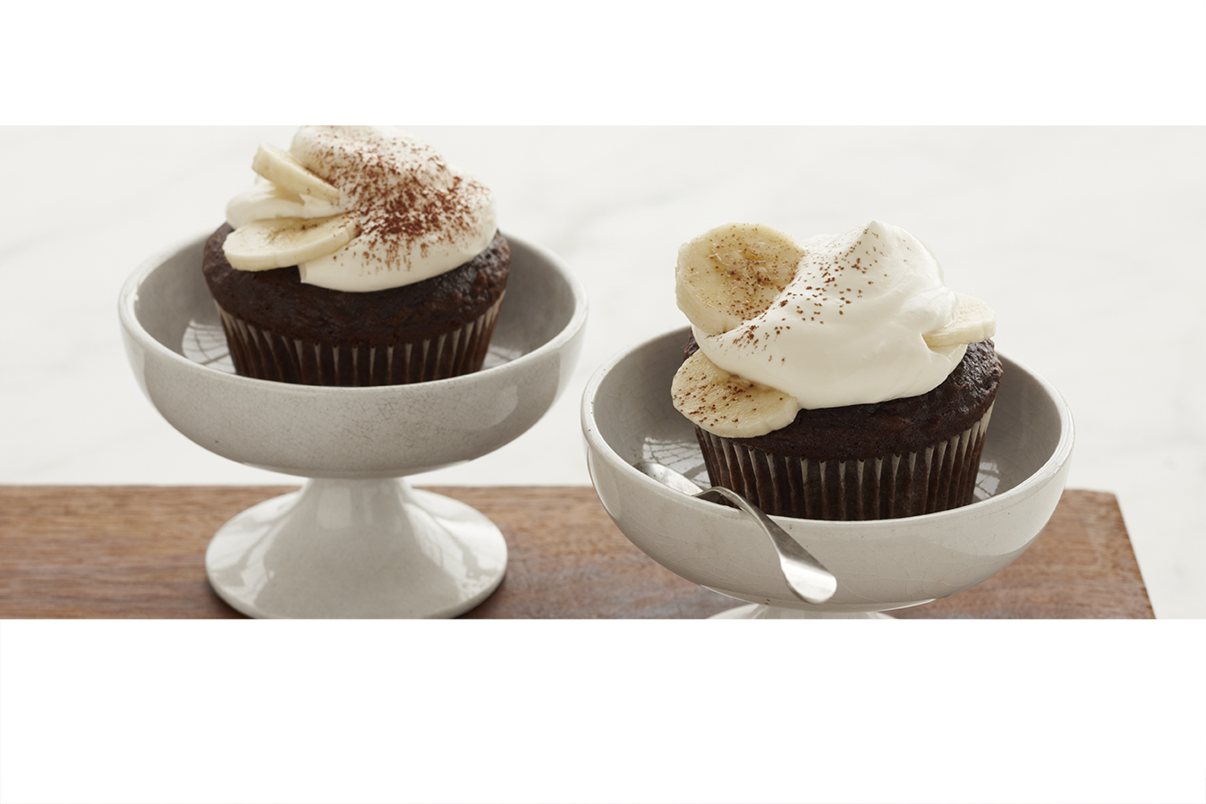 Fudge 'n' Banana Cupcakes