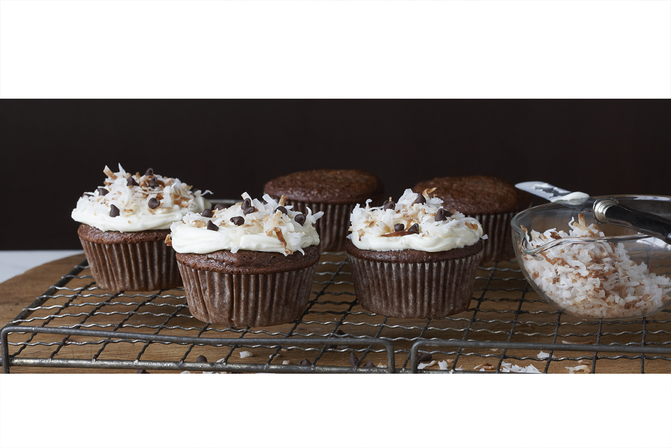 Creamy German Chocolate Cupcakes