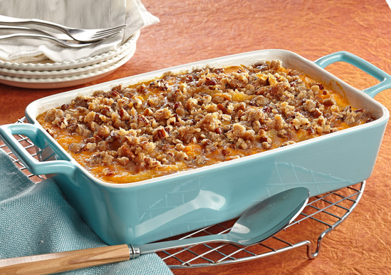 Baked Apple Sweet Potatoes with Pecan Streusel Topping ...