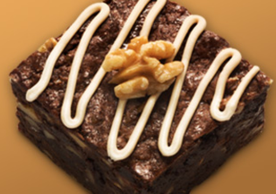Banana Walnut Brownies with Maple Glaze