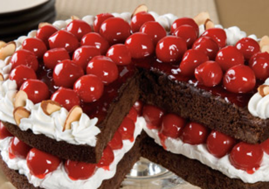 Duncan hines comstock more fruit cherry duncan hines for Black forest torte recipe