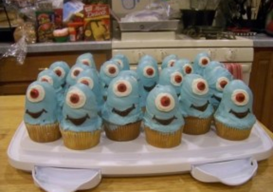 Blue One-Eyed Cupcakes