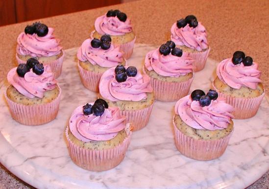 Blueberry Breakfast Cupcakes