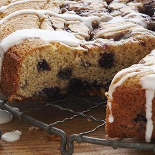 Maine wild blueberry streusel coffee cake
