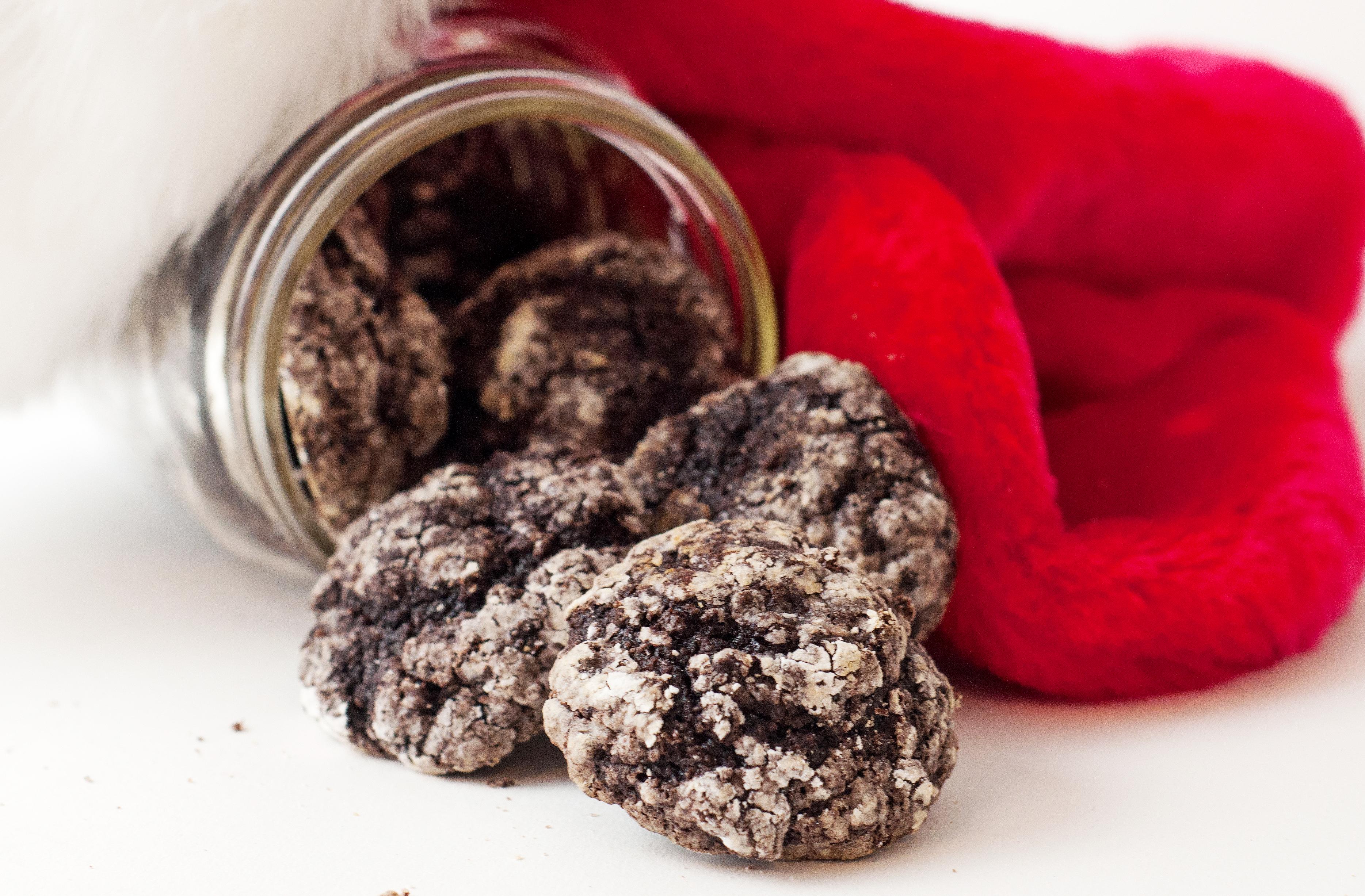 Lumps of Coal Crinkle Cookies