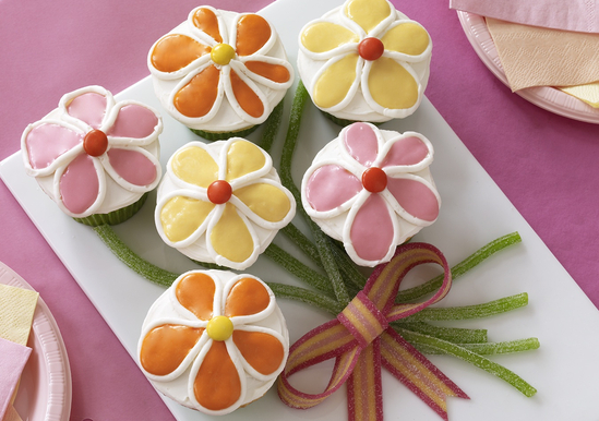 Flooded Flower Cupcakes
