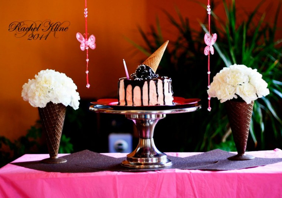"""Melting"" Ice cream Cone Cake"