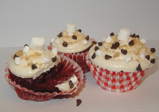 Red Velvet Smore Cupcakes